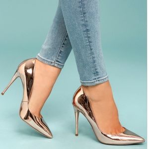 Steve Madden DAISIE ROSE GOLD PATENT PUMPS